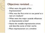 objectives revisited