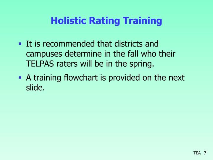 Holistic Rating Training