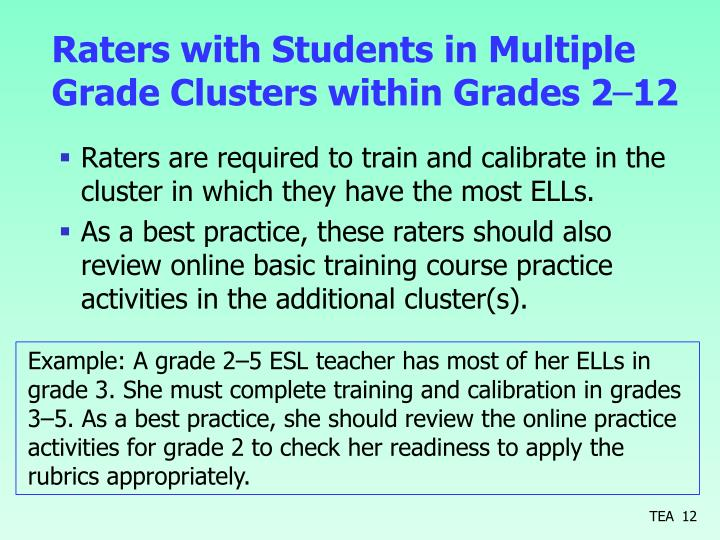 Raters with Students in Multiple Grade Clusters within Grades 2