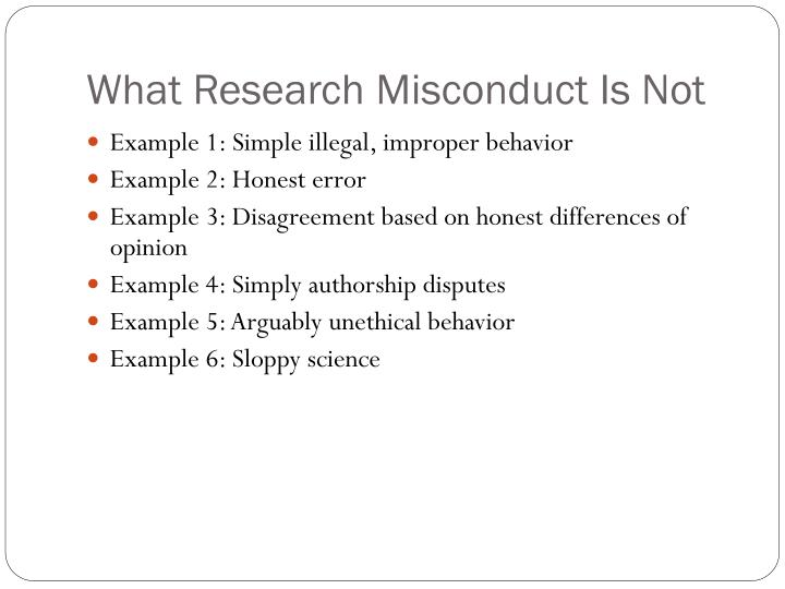 What Research Misconduct Is Not