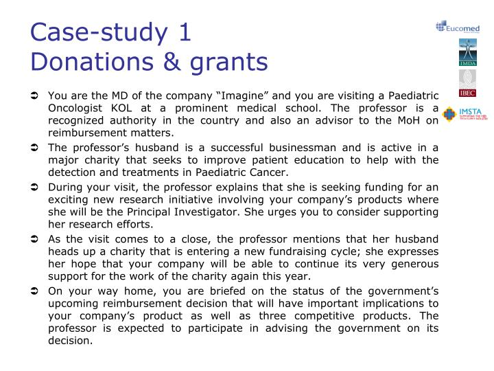 Case study 1 donations grants