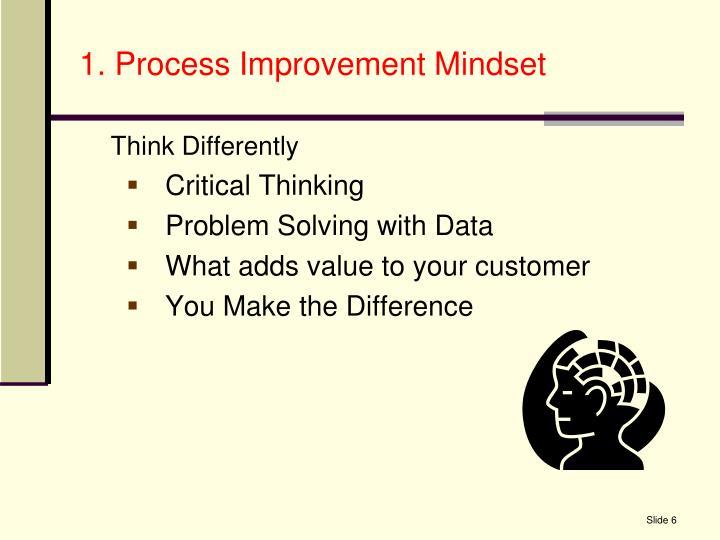 1. Process Improvement Mindset