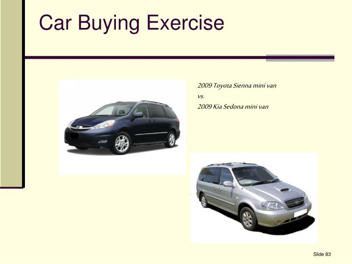 Car Buying Exercise