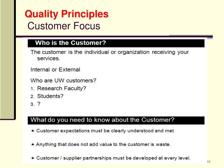 Quality Principles