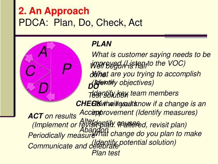 2. An Approach