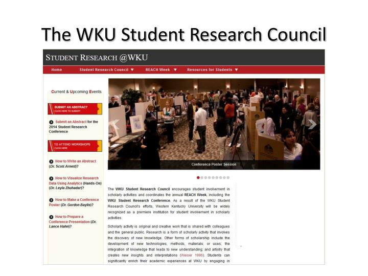 The WKU Student Research Council