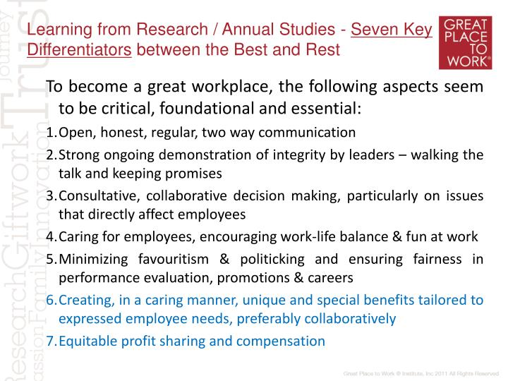 Learning from Research / Annual Studies -