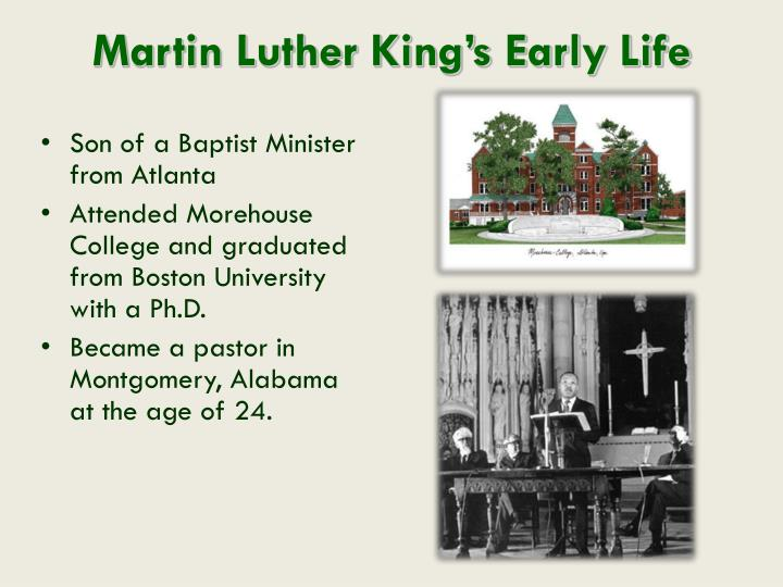 Martin Luther King's Early Life