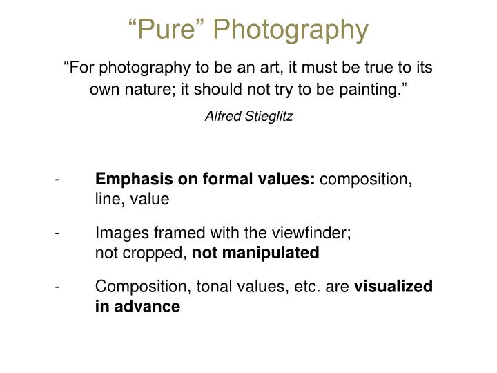 """Pure"" Photography"