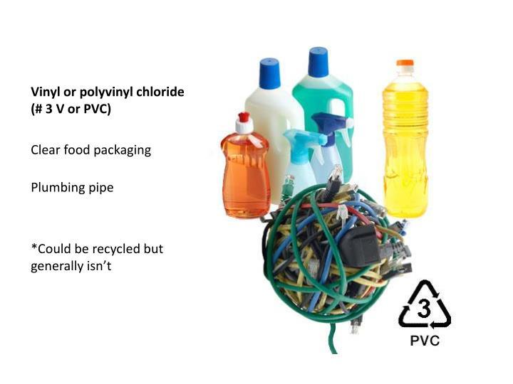 Vinyl or polyvinyl chloride (# 3