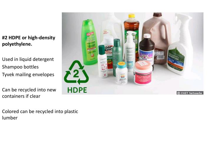 #2 HDPE or high-density polyethylene.