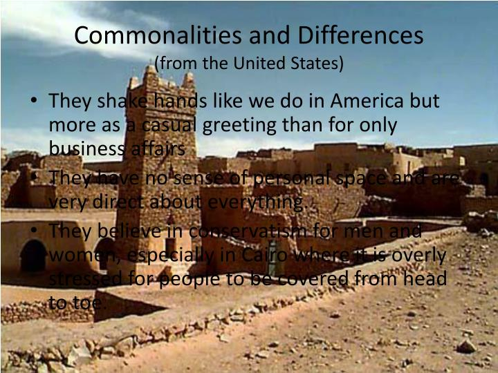 Commonalities and