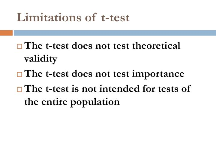 Limitations of t-test