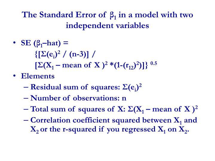The Standard Error of