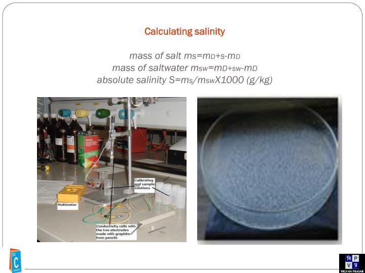 Calculating salinity