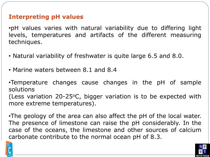 Interpreting pH values