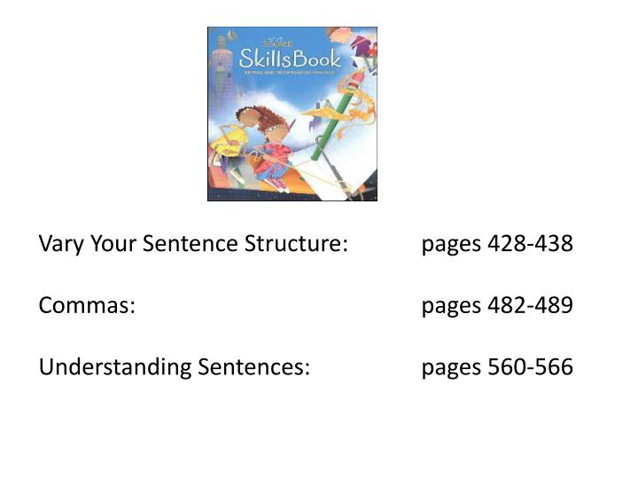 Vary Your Sentence Structure: pages 428-438