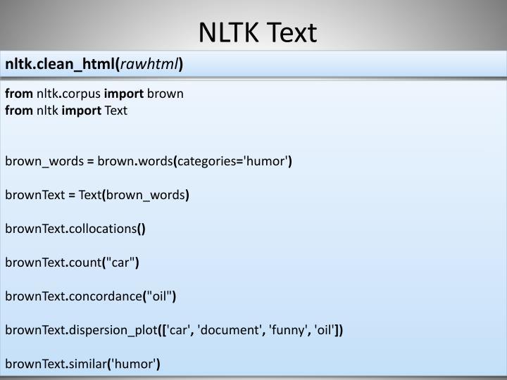 NLTK Text
