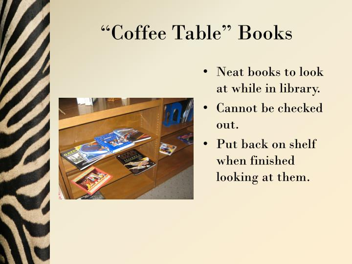 """Coffee Table"" Books"
