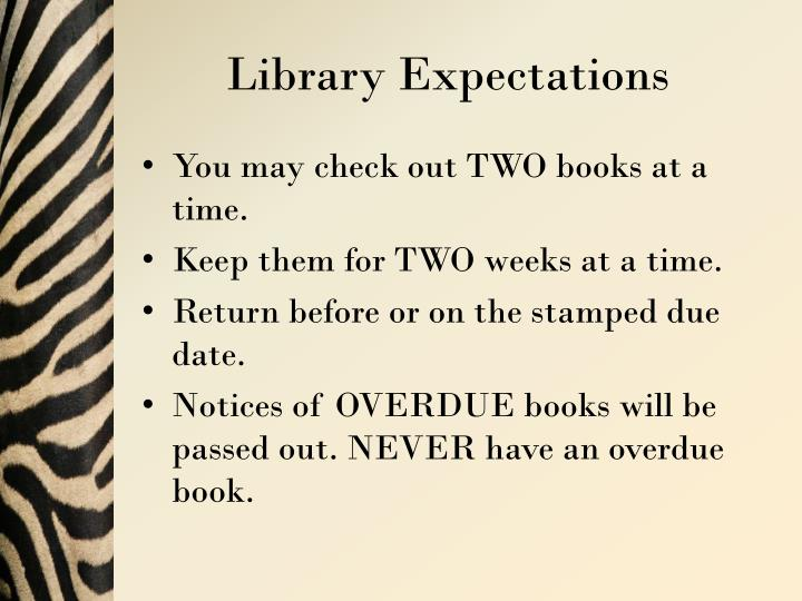Library Expectations