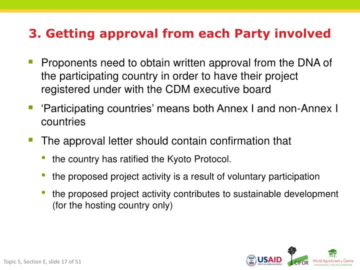 3. Getting approval from each Party involved
