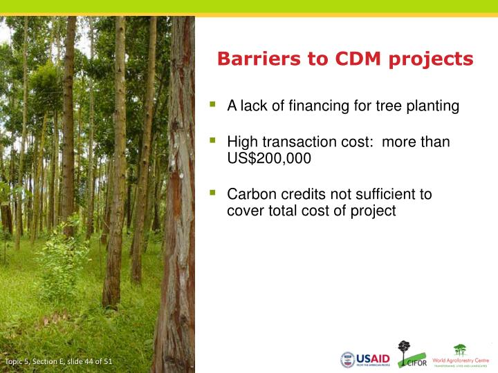 Barriers to CDM projects