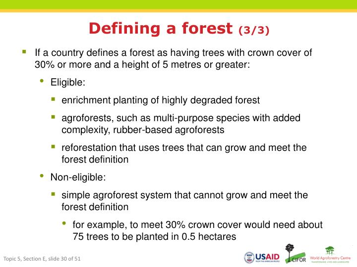 Defining a forest