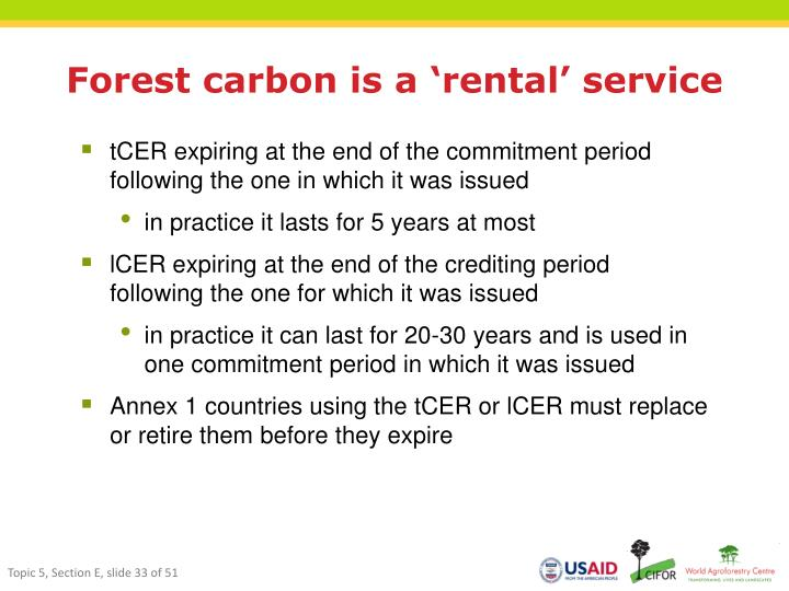 Forest carbon is a 'rental' service