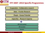 fp7 2007 2013 specific programmes