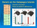 darwin on the galapagos islands darwin s finches there are distinct differences