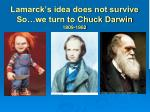 lamarck s idea does not survive so we turn to chuck darwin 1809 1882
