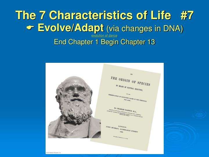 The 7 Characteristics of Life   #7