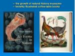 the growth of natural history museums lavishly illustrated coffee table books