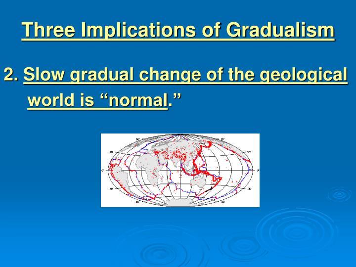 Three Implications of Gradualism