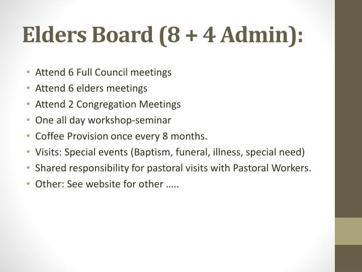 Elders Board (8 +
