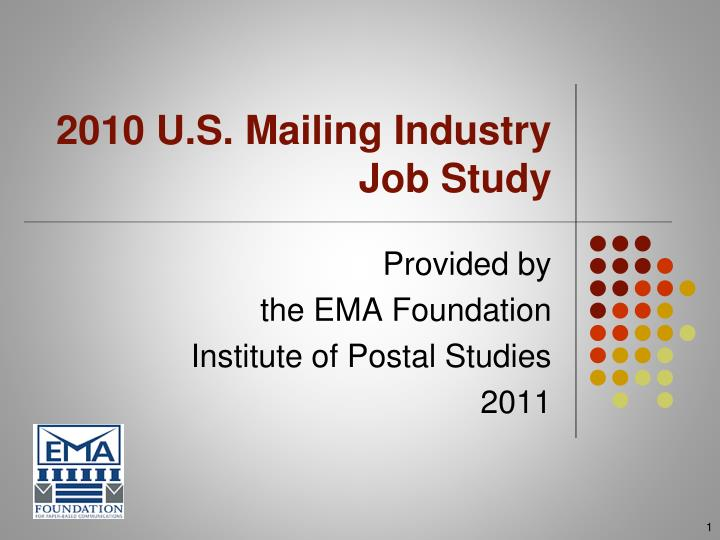 2010 U.S. Mailing Industry