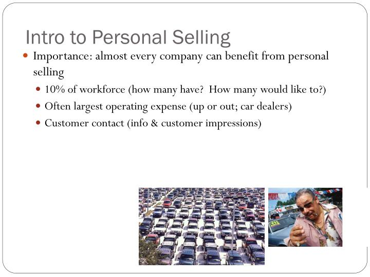 Intro to Personal Selling