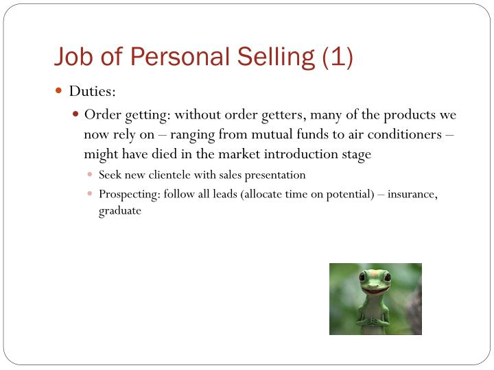 Job of Personal Selling (1)