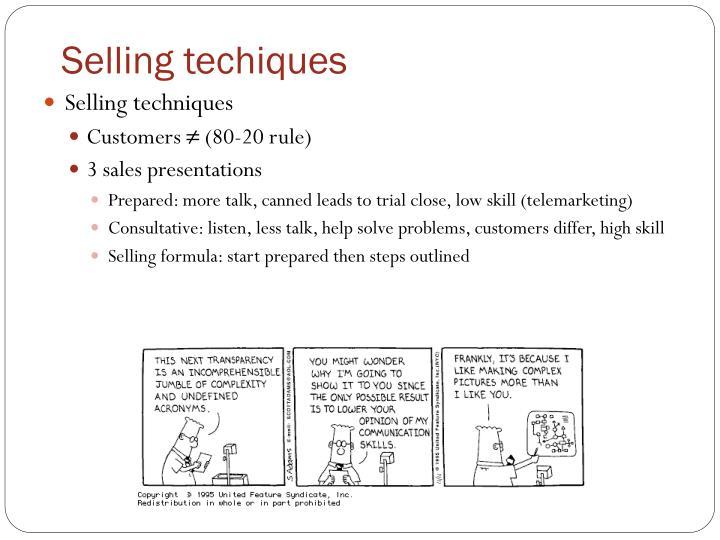 Selling techiques