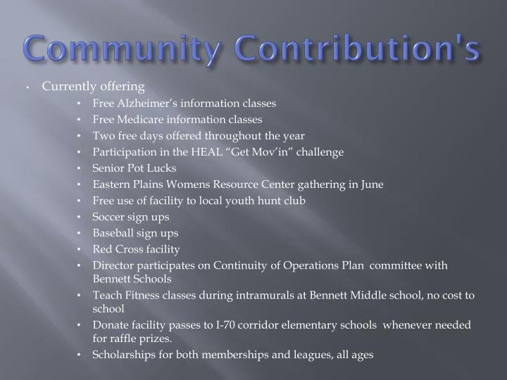 Community Contribution's