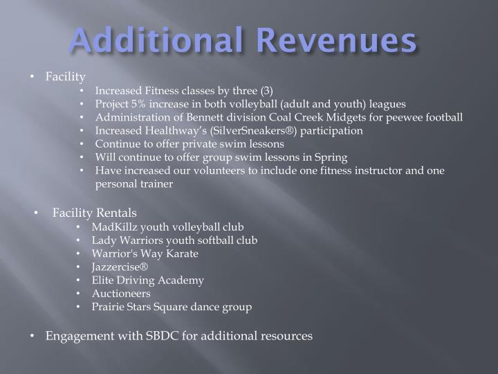 Additional Revenues