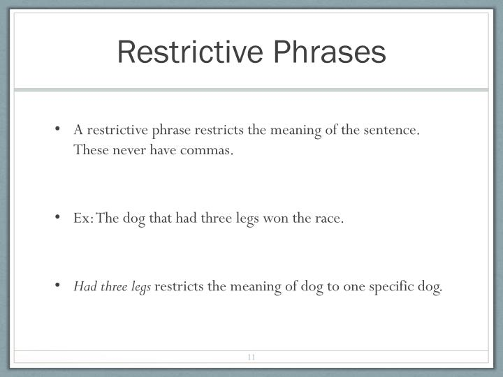 Restrictive Phrases