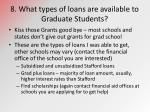 8 what types of loans are available to graduate students