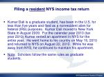 filing a resident nys income tax return