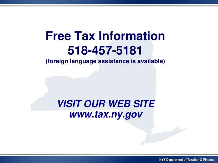 Free Tax Information