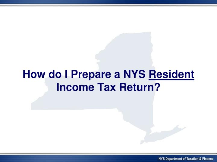 How do I Prepare a NYS