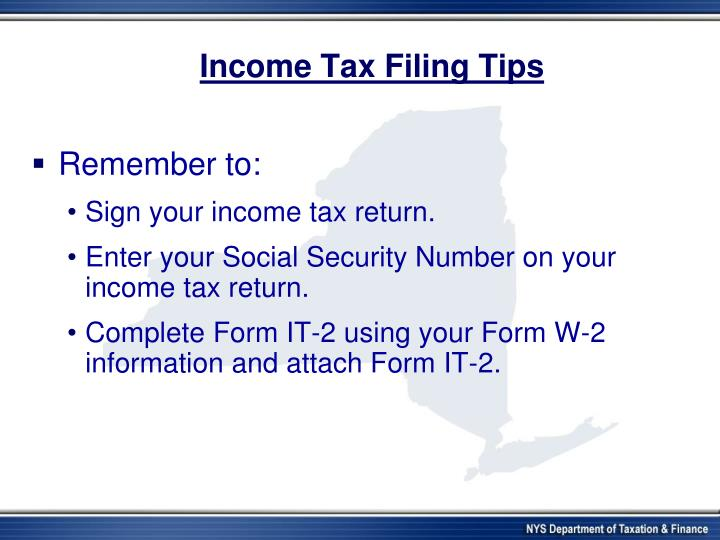 Income Tax Filing Tips