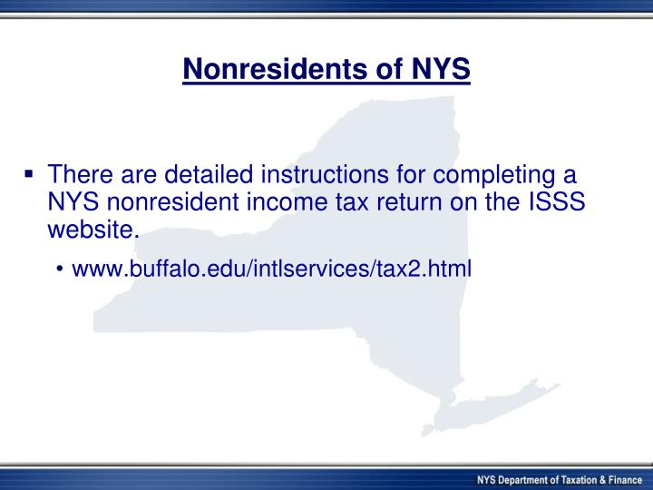 Nonresidents of NYS