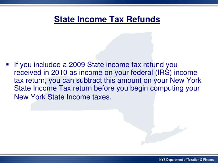 State Income Tax Refunds