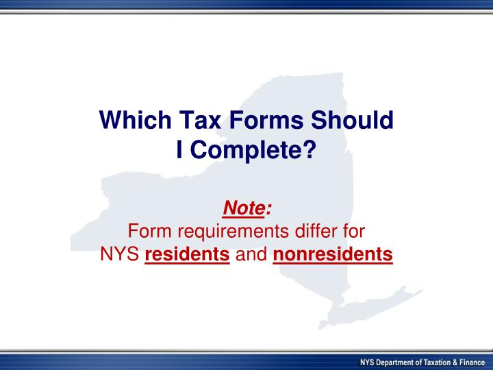 Which Tax Forms Should